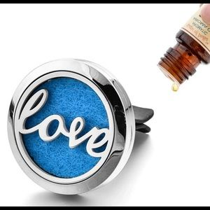 "💍 ""Love"" Aromatherapy Stainless Steel Clip"